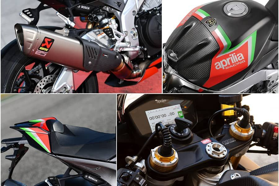 Aprilia RSV4 1100 Factory 2020 performance closeup