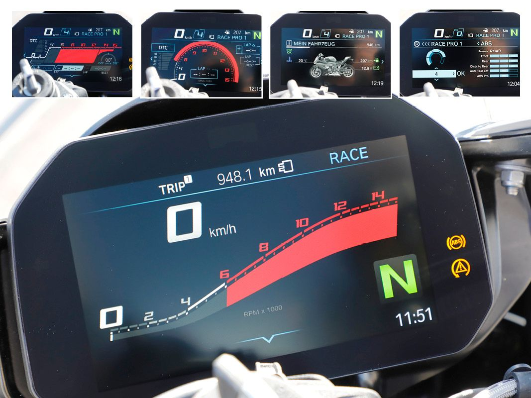 BMW S1000RR 2019 dash up close
