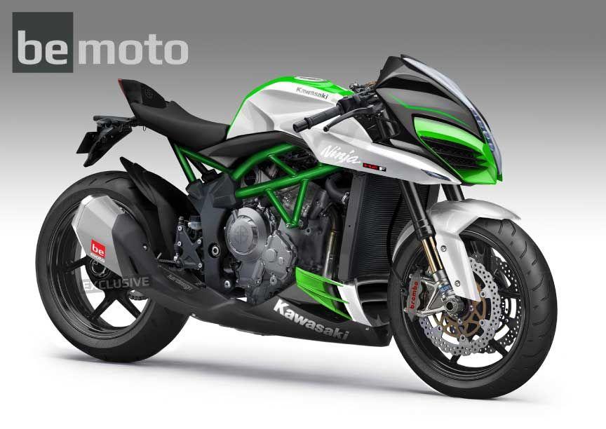 Kawasaki Ninja H2R: H2F Naked Concept   BeMoto