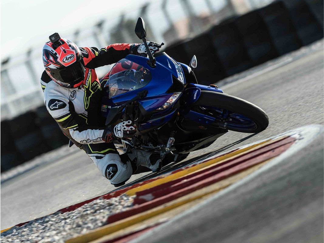 Yamaha YZF-R125 on a race track