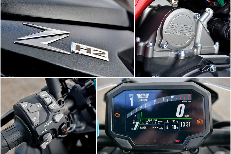 Kawasaki Z H2 2021 in detail