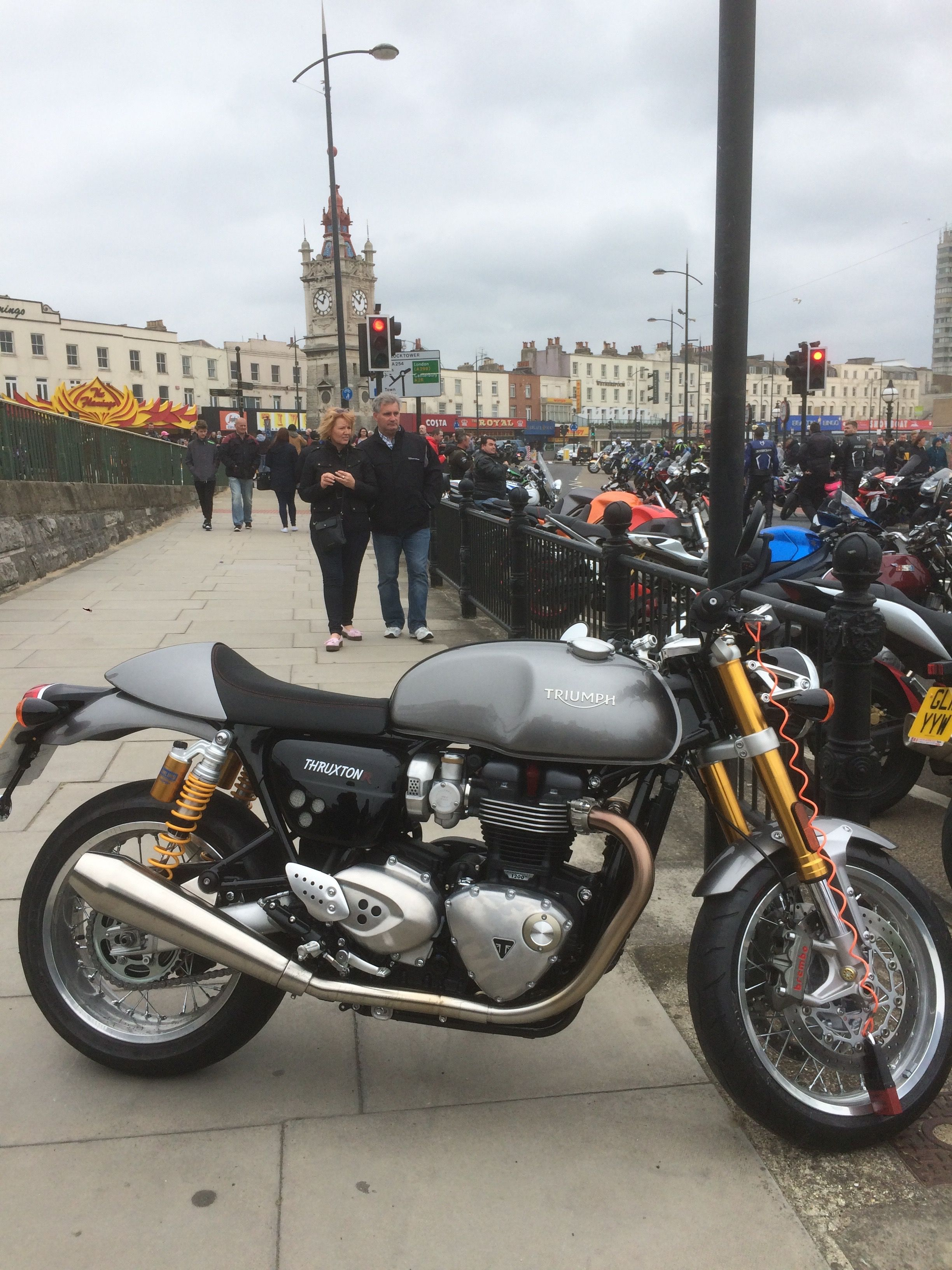 Triumph Thruxton at Margate Meltdown