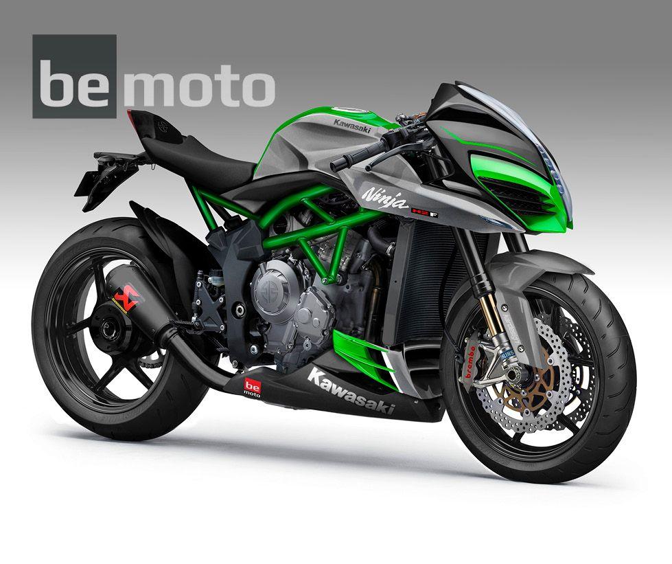 Kawasaki Ninja H2 Naked Black Akrapovic