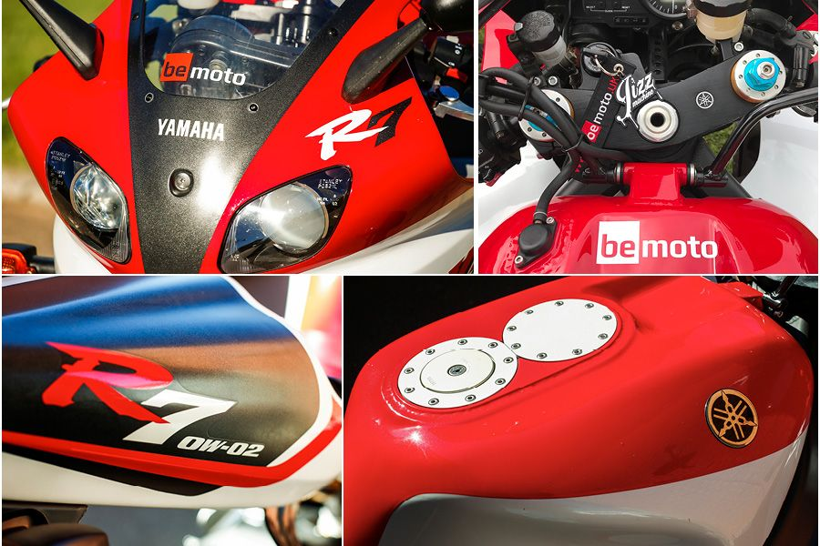 Yamaha R7 Motorbike bodywork close up