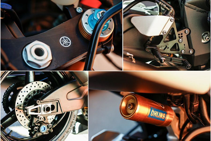Yamaha R7 Motorcycle close up details