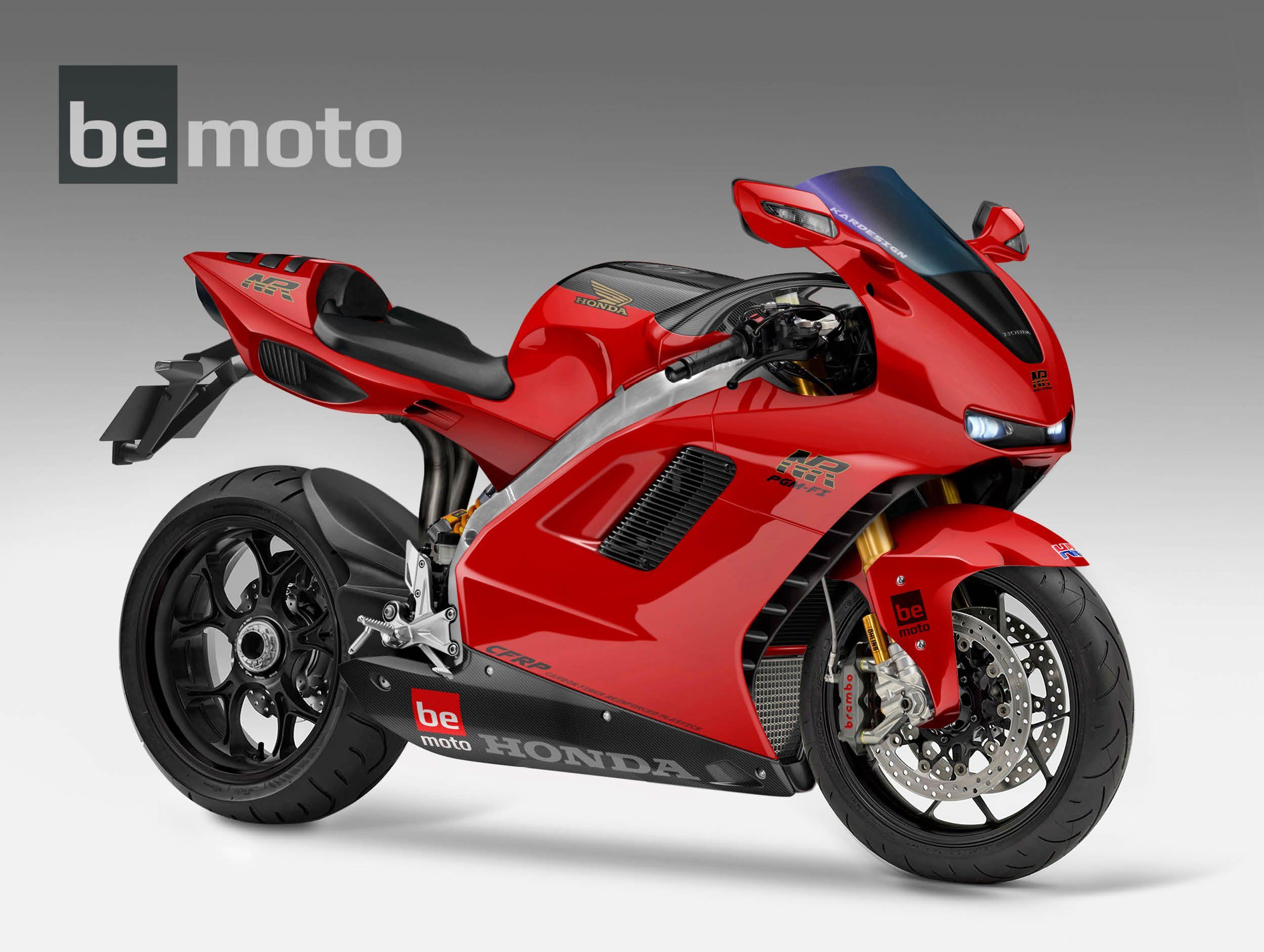 2020 Honda Nr1000 V4 Oval Piston Concept Bike Bemoto Motorcycles Information Nr750 Red