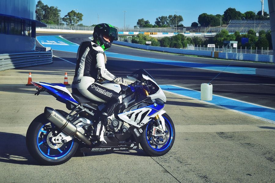 Joanna Benz on her BMW HP4