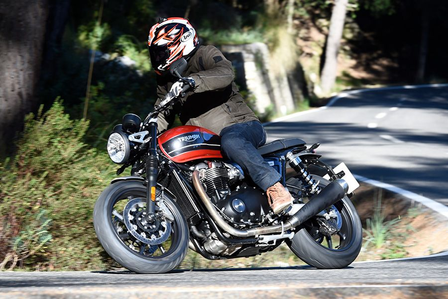 Alan Dowds riding the 2019 Speed Twin