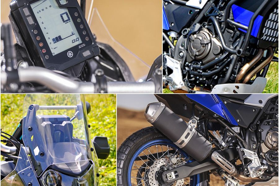 Up close Yamaha Tenere 700 2020 features