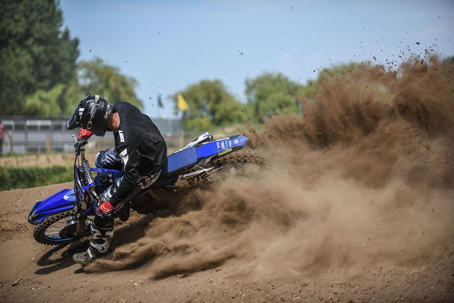 Yamaha YZ250 in action